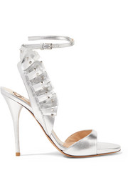 Valentino Valentino Garavani studded ruffled leather sandals
