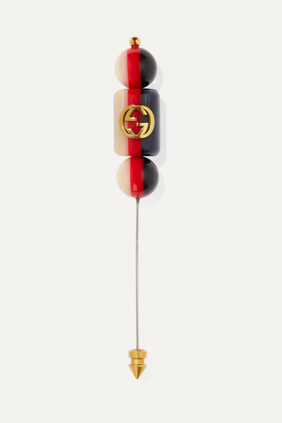 Gucci Silvie gold-plated resin brooch