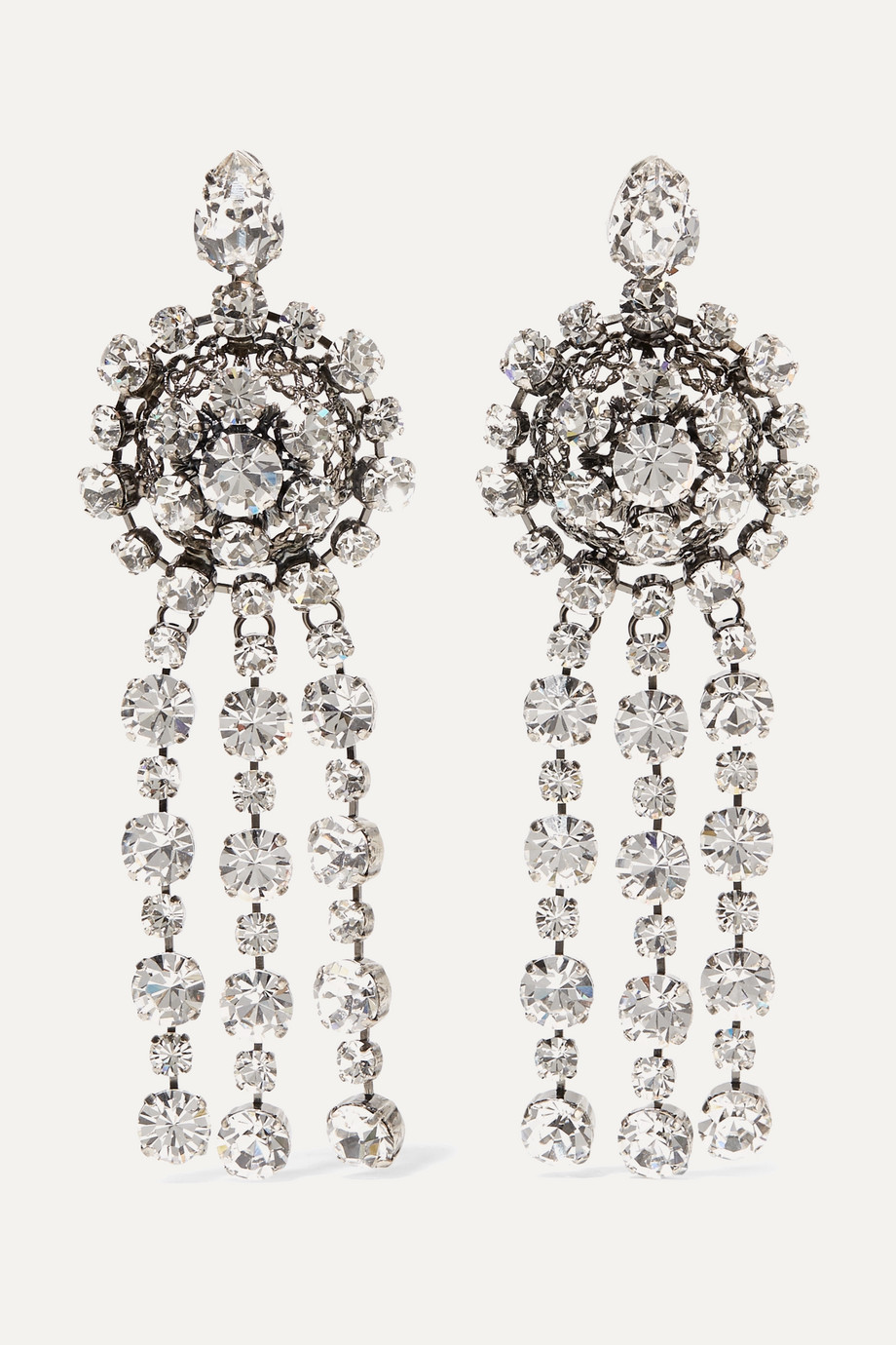 Gucci Silver-plated crystal earrings