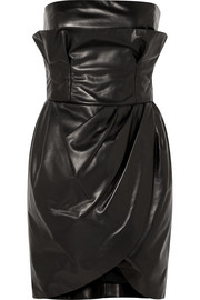 Versace Leather mini dress