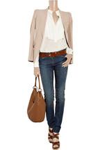 Roberto CavalliCrystal-embellished mid-rise skinny jeans