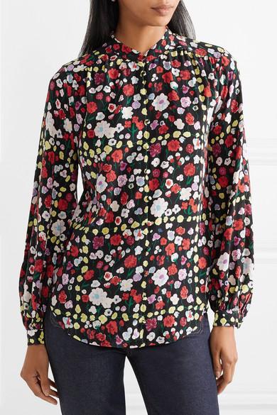 1a6e6f402566d6 Equipment. Cornelia floral-print washed-silk shirt