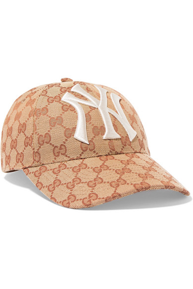 72b30e9c Gucci | Embroidered coated-canvas baseball cap | NET-A-PORTER.COM