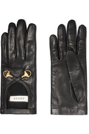 Gucci Horsebit-detailed leather gloves