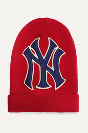 + New York Yankees embroidered wool beanie