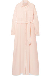 Pour Les Femmes Cotton and silk-blend nightdress