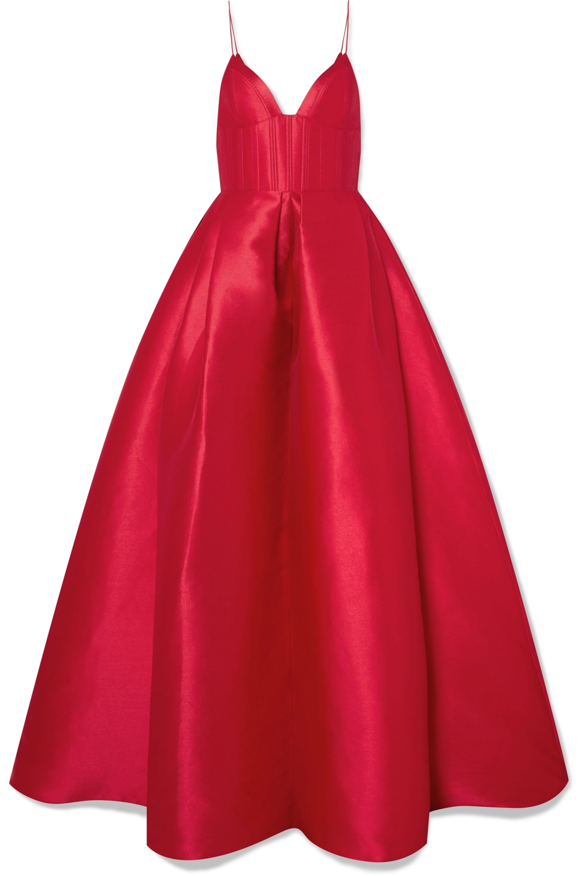 Alex Perry Alder pleated duchesse silk-satin gown