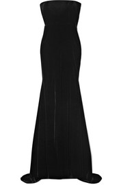 Sutton strapless velvet gown