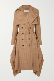 Chloé Draped checked woven trench coat