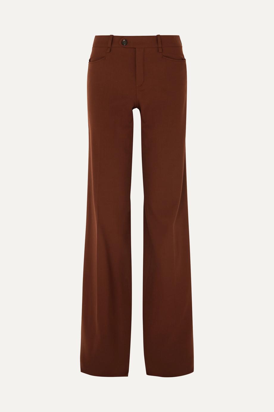 Chloé Wool-blend wide-leg pants