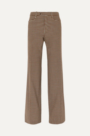 Chloé Checked wool-blend wide-leg pants
