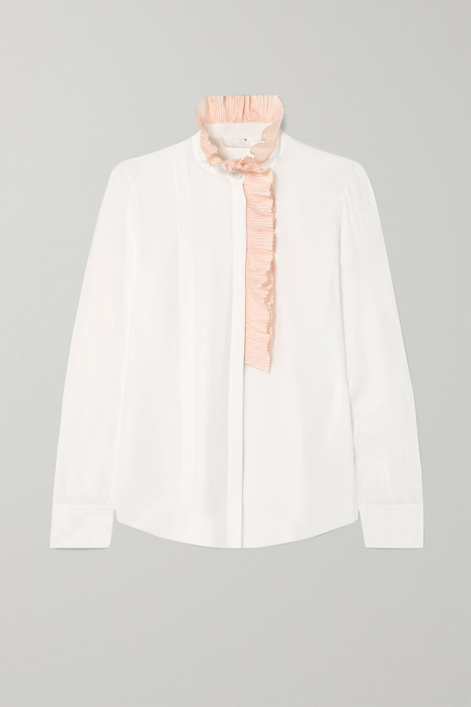 Chloé Ruffle-trimmed silk-georgette blouse