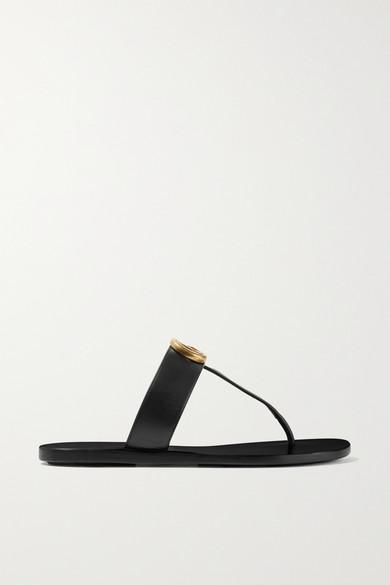 Gucci *Lifford Gg Flip Flops Sandals/Sandali Infradito Morsetto In Black