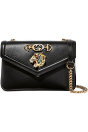 Rajah small embellished leather shoulder bag