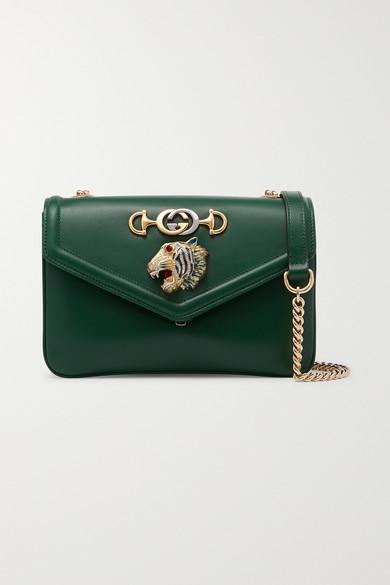 57f780af2f0b91 Gucci | Rajah small embellished leather shoulder bag | NET-A-PORTER.COM