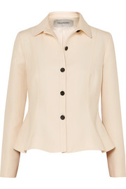 Valentino Wool and silk-blend jacket