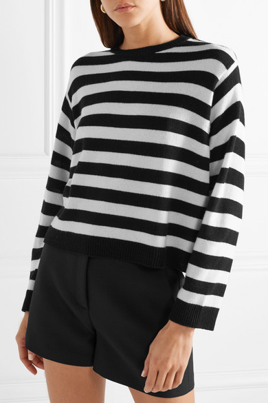 Clearance Collections Wrap-effect Bow-embellished Striped Cashmere Sweater - Black Valentino Cheap Brand New Unisex TmDOFPWTqs