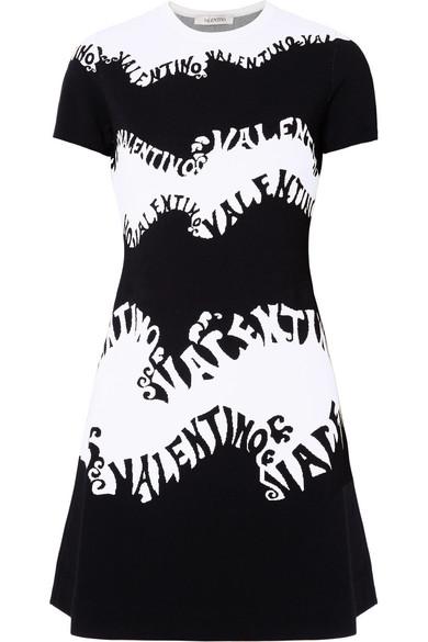 Valentino - Jacquard Dress - Black