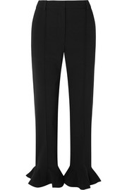Valentino Ruffled cady straight-leg pants