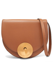 Monile leather shoulder bag