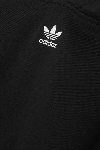 adidas Originals. Verkürzter Hoodie aus Baumwoll-Jersey mit Streifen. €60.  Play 1387e7521a