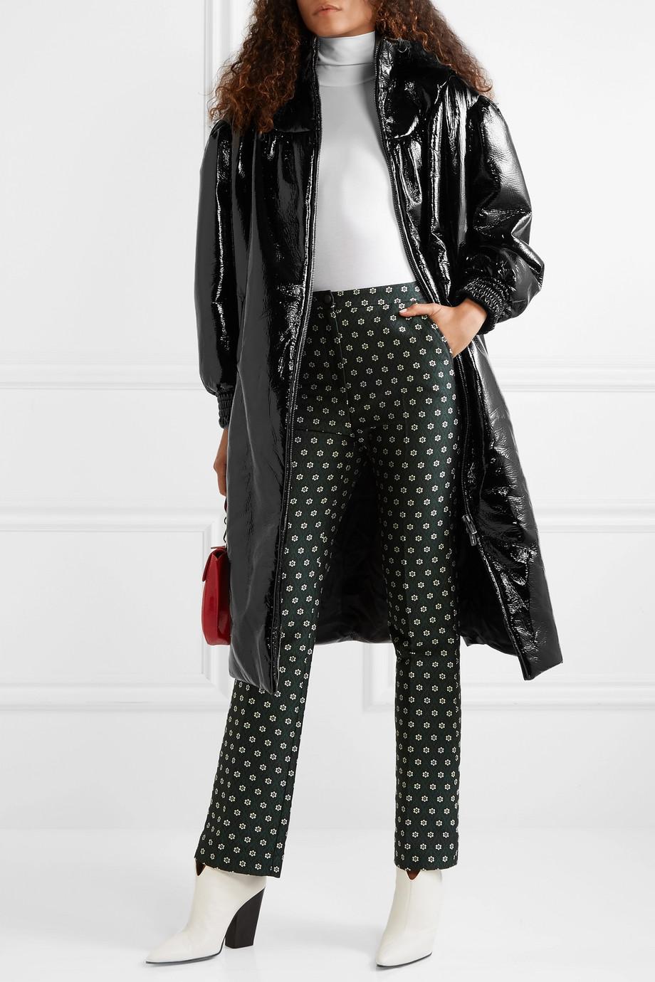 Miu Miu Belted vinyl coat