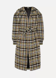 Miu Miu Checked wool-blend bouclé coat