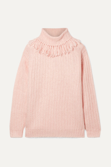 c540fff98ba Miu Miu. Tasseled mohair-blend turtleneck sweater