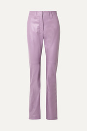 Miu Miu Leather straight-leg pants