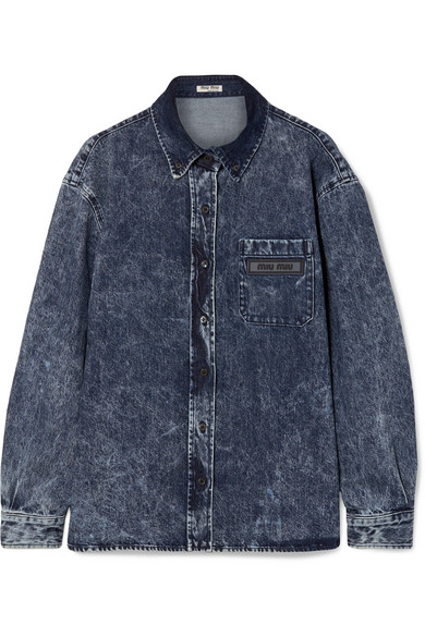 Oversized Denim Shirt in Blue