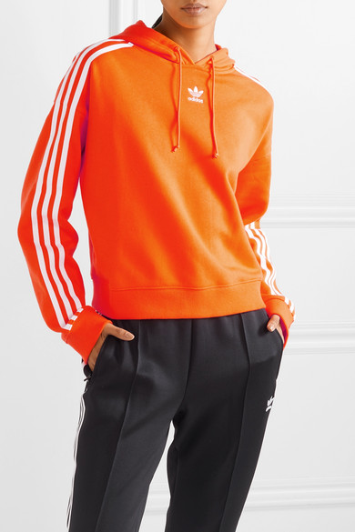 1fcde729 adidas Originals | Cropped striped cotton-terry hoodie | NET-A ...