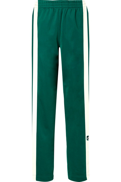 ee0648e74198 Adibreak striped satin-jersey track pants