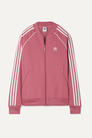 Adidas Originals Sst Striped Jersey Track Jacket Net A Porter Com