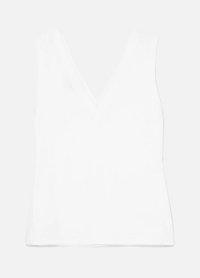 THE RANGE Cotton-Jersey Tank in White