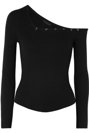 The Range Oberteil aus geripptem Stretch-Jersey mit Cut-out