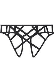 Cage stretch-silk satin briefs