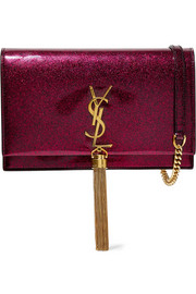 Saint Laurent Monogramme Kate medium glittered patent-leather shoulder bag