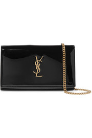 Saint Laurent Monogramme Kate small patent-leather shoulder bag