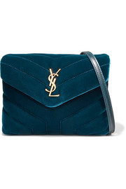 Saint Laurent LouLou quilted velvet shoulder bag