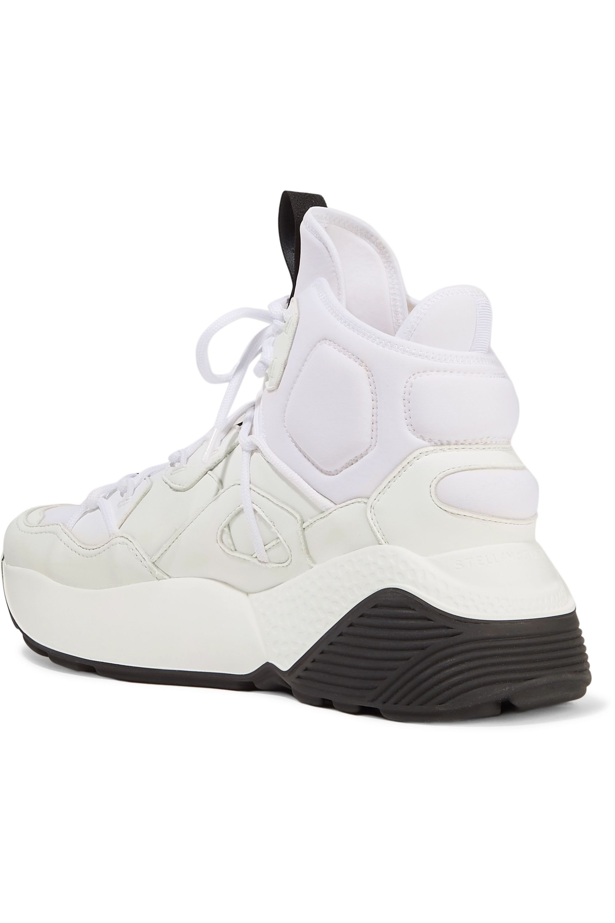 Stella McCartney Faux leather and neoprene sneakers