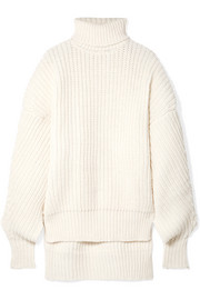 A.W.A.K.E. Oversized cutout wool turtleneck sweater