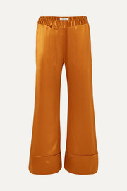 Paloma silk-satin wide-leg pants