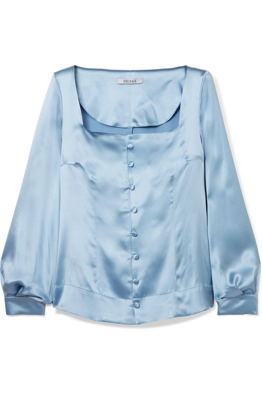 Deitas Gaia silk-satin blouse