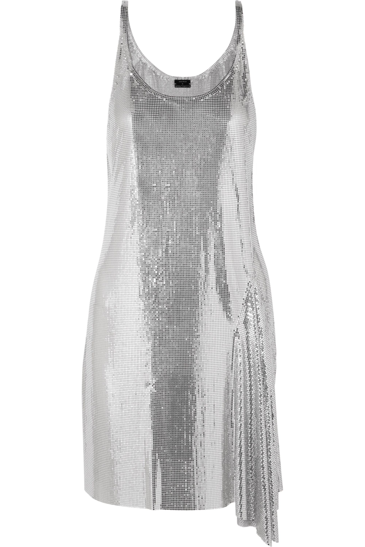 Paco Rabanne Metallic chainmail mini dress