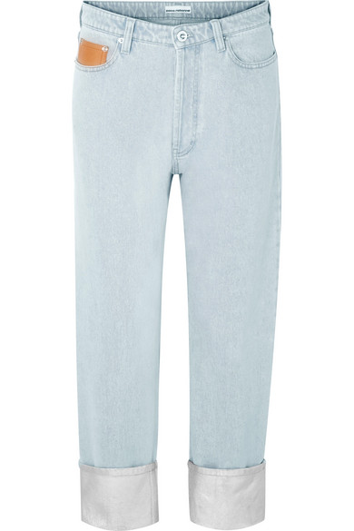 Paco Rabanne - Coated Mid-rise Boyfriend Jeans - Silver