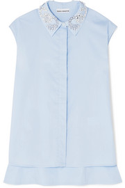 Paco Rabanne Embellished cotton-poplin shirt