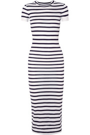 Paco Rabanne Striped jersey midi dress
