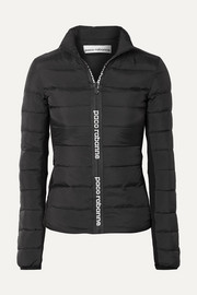 Paco Rabanne Stretch-knit paneled quilted shell down jacket