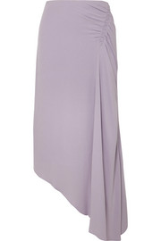 Les Héroïnes The J.K asymmetric gathered crepe skirt