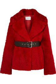 Common Leisure Oversized belted shearling coat